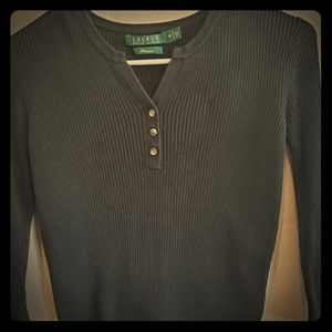 RALPH Lauren vneck knit top